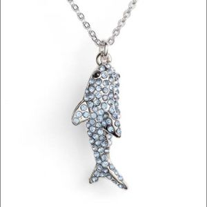 Kate Spade california dreaming pavé shark necklace